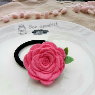 【Simple color monochrome felt roses】 handmade hairpin hairpin pin hair accessories