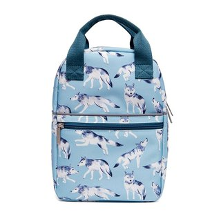 Petit Monkey, the Netherlands - Environmentally friendly powder blue cool wolf young backpack - s