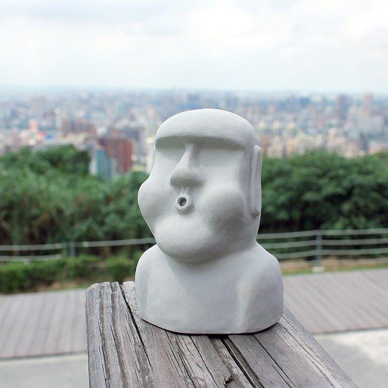 水泥摩艾 Moai-嘟嘟摩艾 Q版摩艾 文鎮 文創 辦公療癒小物
