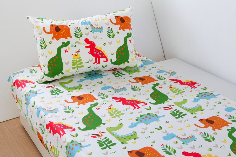 Anti-mite waterproof breathable cotton bedding bed bag pillow set <dinosaur world> large cleaning pad diapers mat waterproof pad