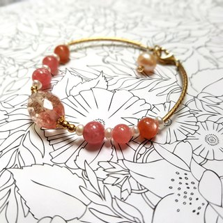 Girl Crystal World - [Sakura Feast] - Red Stone Handmade Natural Crystal Bracelet