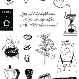 Coffee tasty tattoo stickers