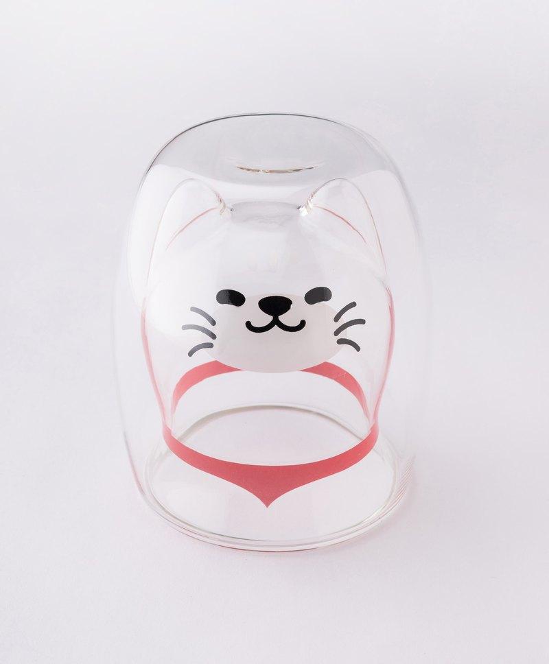喵喵雙層玻璃杯-透明色 生日禮物 聖誕禮物 交換禮物