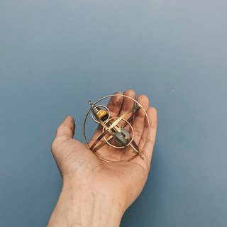 [Mush] Mini Armillary Sphere Stereo Brass Geometry