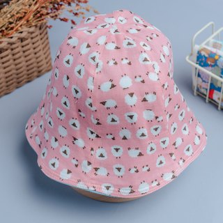 Double-sided fisherman hat - foundation sheep children's clothing newborn baby newborn parent-child