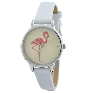 Mothers Day Gift Flamingo Watch White Ladies Watch Free shipping worldwid