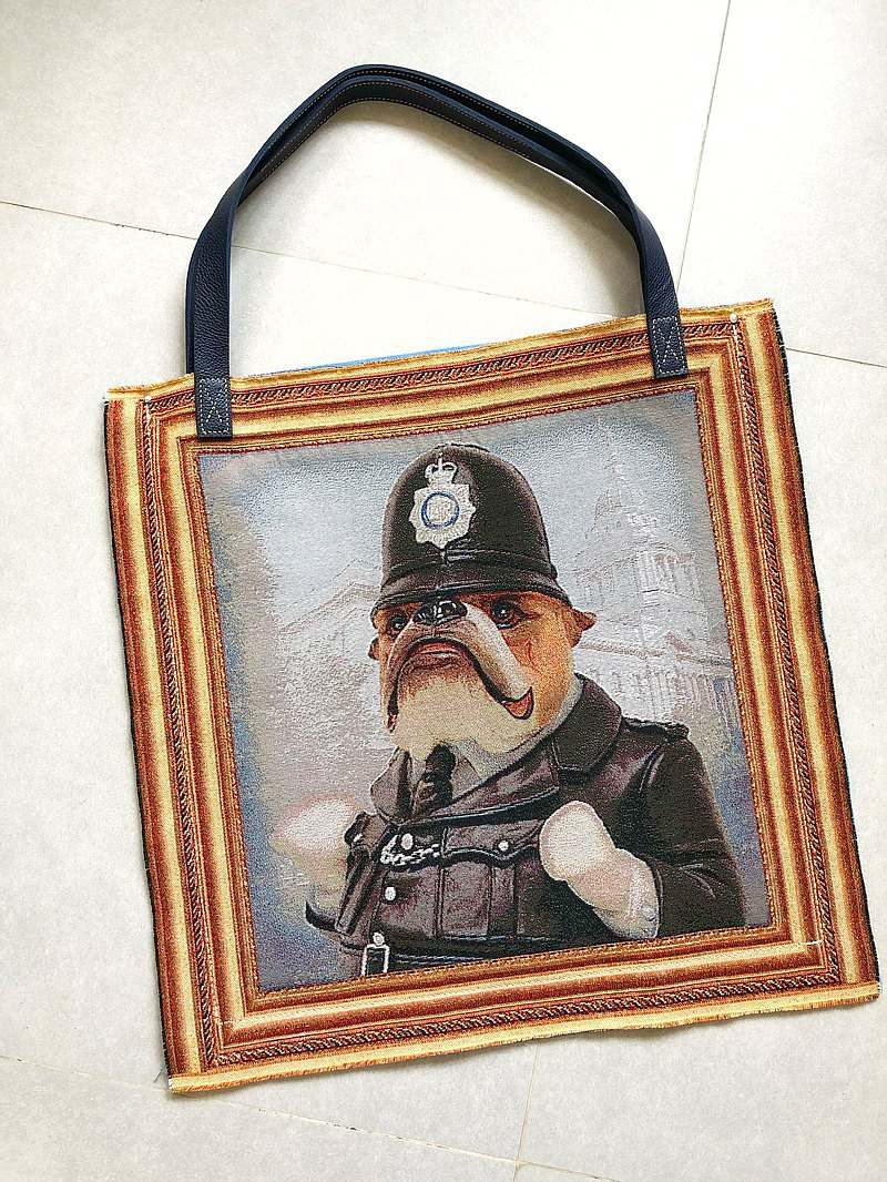 Original Hand-made General Shar Pei Dog Shoulder Bag | Baby Bag | Travel Bag | Gym Bag | Leather Bag