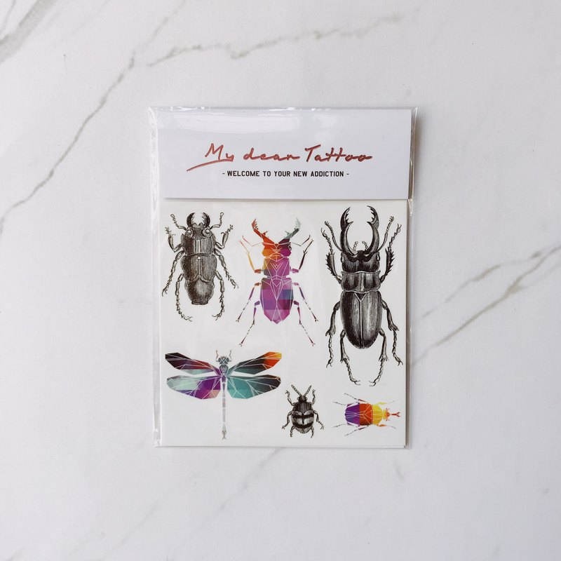 / Temporary Tattoo / 2 sheets (Each Pack)  Dragonfly Insect