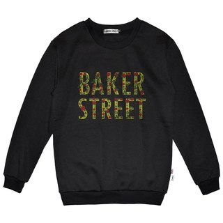 British Fashion Brand -Baker Street- Floral Letters Printed Sweater
