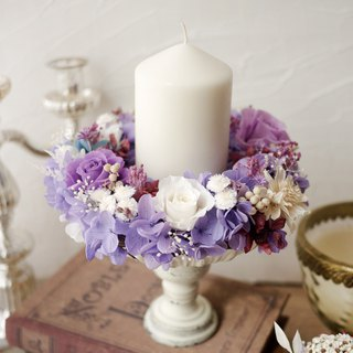 Versailles Wreath Candle Holder (Candlestick + Wreath + Wedding Decoration)
