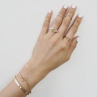 Fyntage 16K gold ring tail ring fine round wire knuckle ring -.. Midi Ring / Knuckle RIng simple and unique Valentine's Day, Mother's Day, birthday gift girlfriends