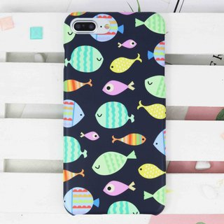 Sea Fish Matt Hard Phone Case for iPhone X 8 8 plus 7 7+ Samsung Note S8 S7 edge