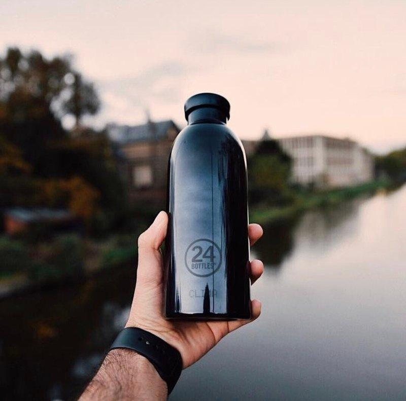 意大利24Bottles【CLIMA冷熱保溫系列】雷神之黑 - 不鏽鋼瓶