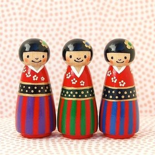 ◇ kimono three sisters Kokeshi ◇ third daughter