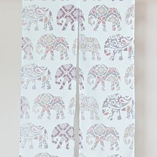 Pre-order Indian elephant flower curtain (two colors) ISAP7252