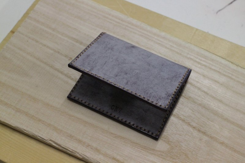 Make Your Choicesss handmade Italian leather folding card pack