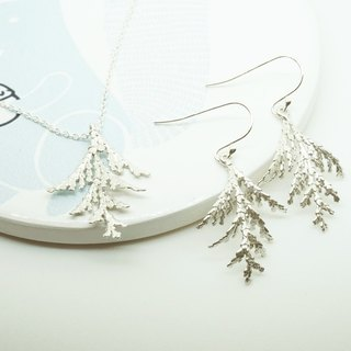 :: Sussurro hand. :: Occasional ornaments necklace earring sets Groups - 925 Silver / Ear-hook / leaf