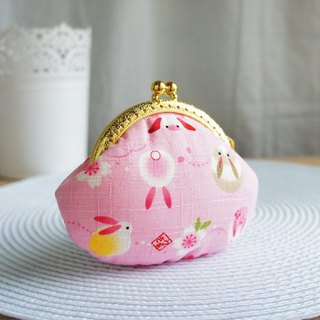 Lovely [Japanese cloth order] Moon Bunny gold coin purse, pink