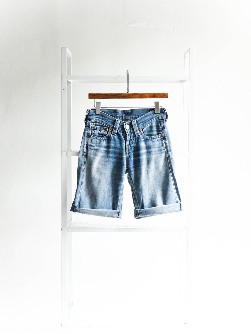 River Water Mountain - levis 929 / W25 shallow shallow sea ice blue beginning of the day cotton tannin antique shorts