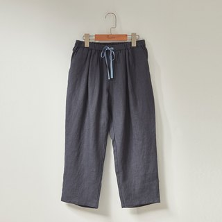 Ángeles - Big Girl - Linen Ribbon Cropped Pants