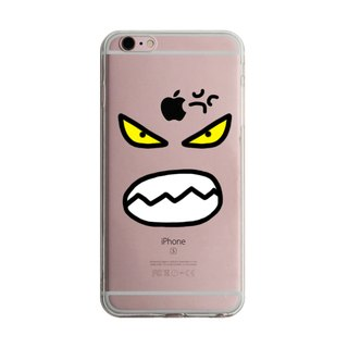 Custom angry expression transparent Samsung S5 S6 S7 note4 note5 iPhone 5 5s 6 6s 6 plus 7 7 plus ASUS HTC m9 Sony LG g4 g5 v10 phone shell mobile phone sets phone shell phonecase