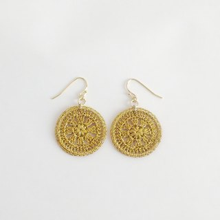 Lameless motif earrings L (gold) P0020