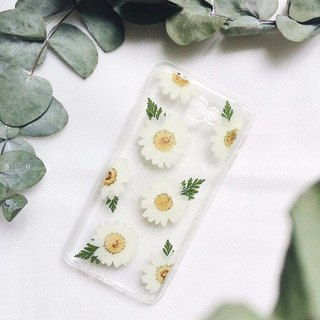 淡淡的白晶菊 • Handpressed Flower Phone Case