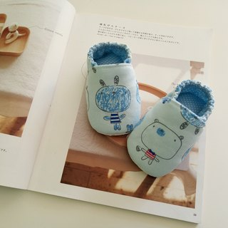 Blue bottom big head doll moon gift baby shoes 13/14