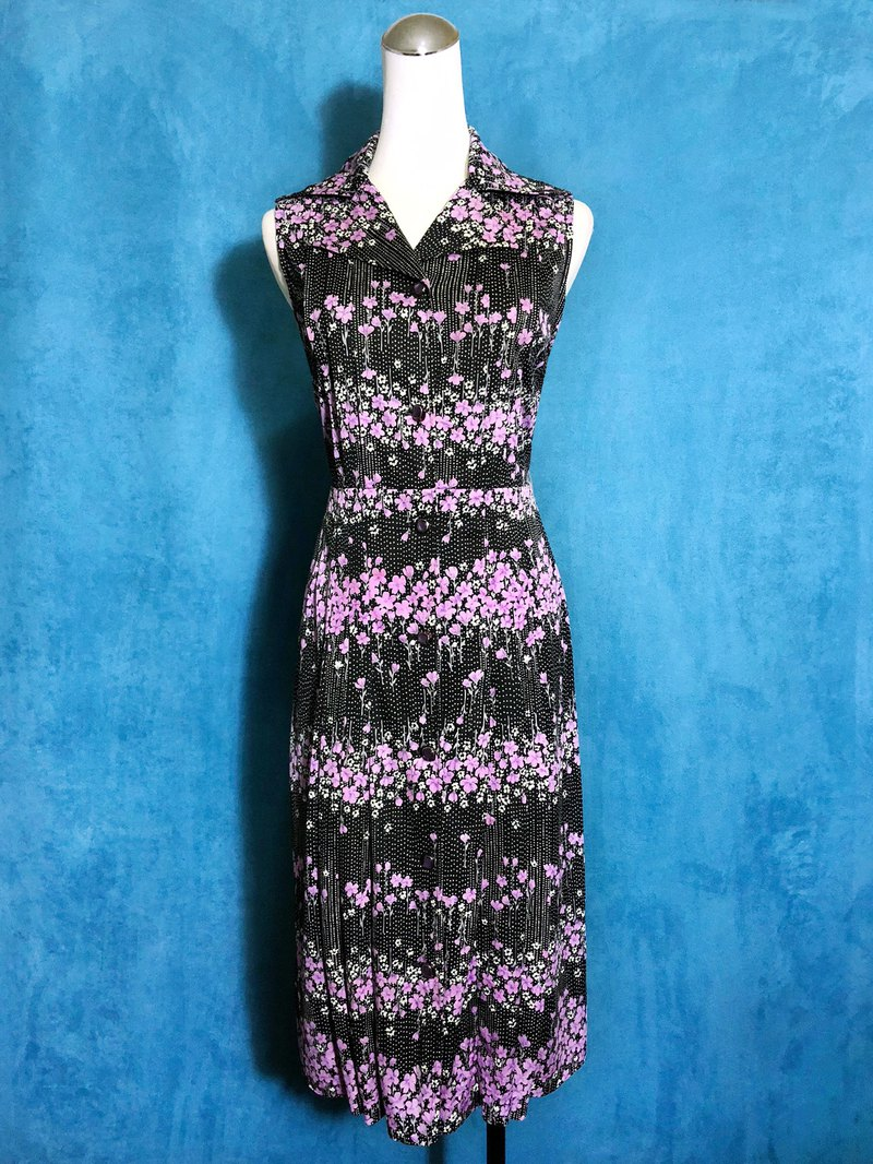 Violet little sleeveless vintage dress / bring back VINTAGE