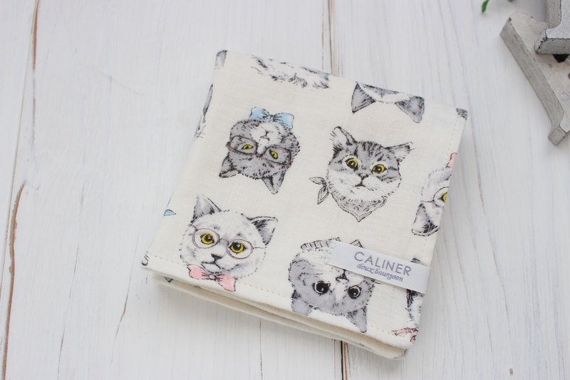 Fashionable cat fluffy gauze handkerchief