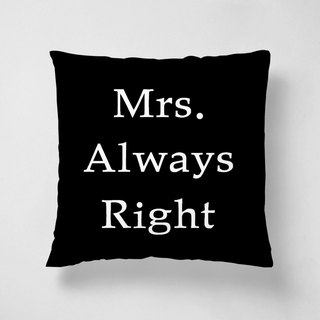 Mr.Right 40cm short velvet pillow Valentine's Day / wedding gift spot special offer