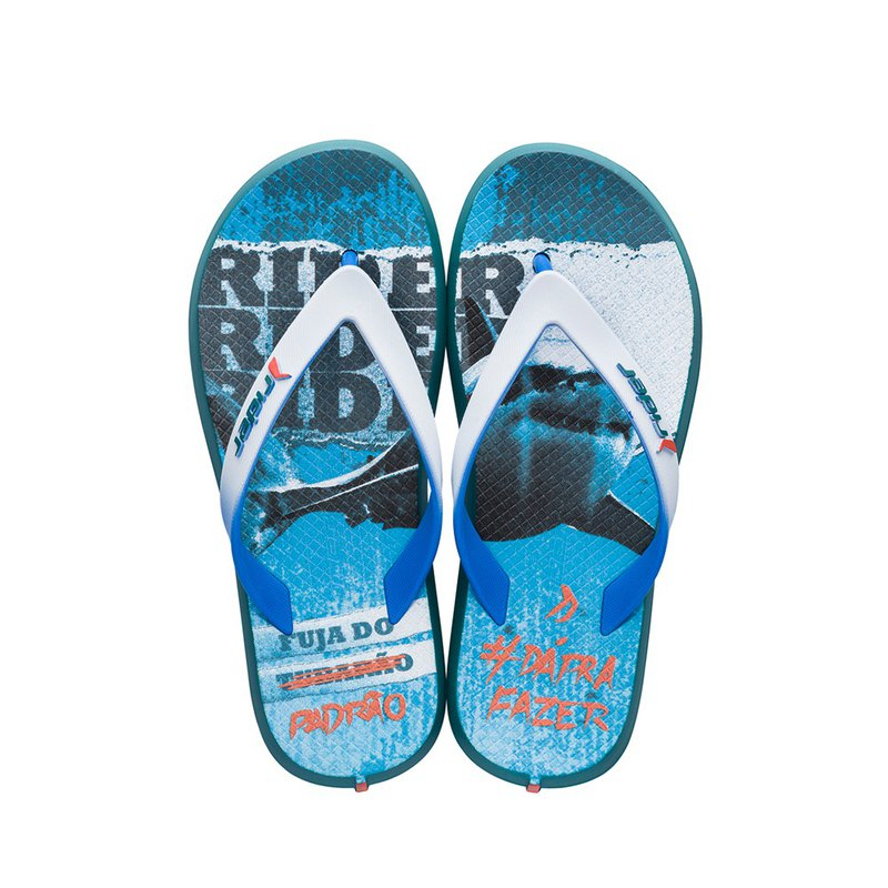 [RIDER] R1 play series flip flops white blue RI1071820382