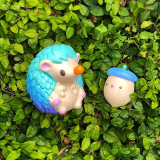Acorn & Nutty - Ocean Breeze - Original Art Toy Hedgehog