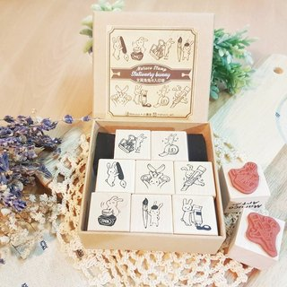 Stationery Rabbit Maple Seal Set - Complete Set 8 - (Paperback Edition)