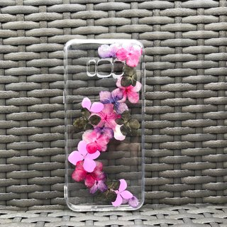 Samsung Galaxy S8 Dry Pressed Flowers Case Purple Flower case 021