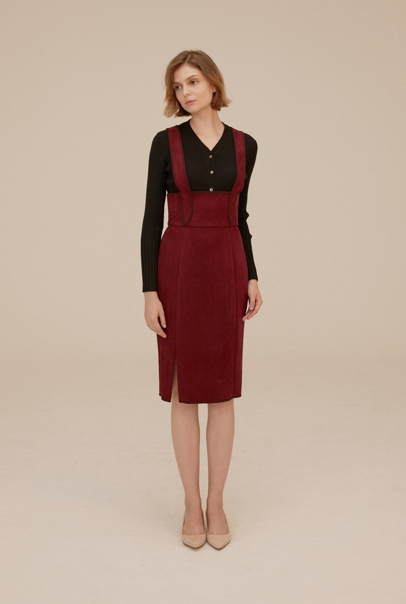 Vest dress (red wine)