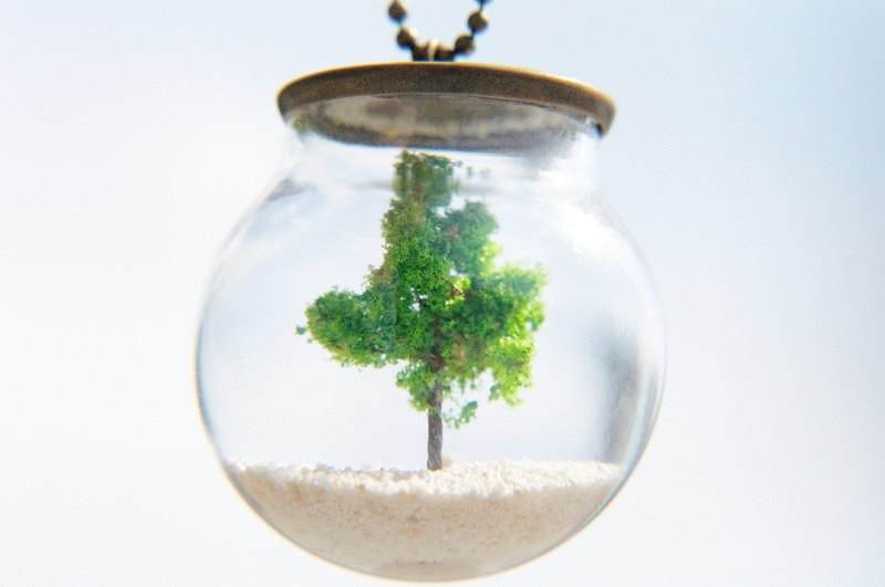 Anniversary of the whole house 9.5 fold / forest girl / French transparent sense of glass ball dry flower necklace short chain long chain - San Mao's poem tree dream in the olive tree