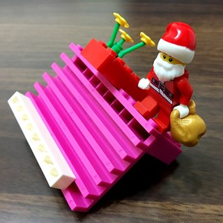 Christmas combination - building blocks mobile phone stand (six sections of angle adjustment) # Compatible LEGO blocks # with adjustable angle blocks # friend gifts # exchange gifts # birthday small objects # cute blocks