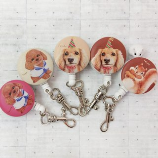 i Good clip telescopic ticket holder series ticket holder - illustration series (three models) VIP dog dachshund dog squirrel
