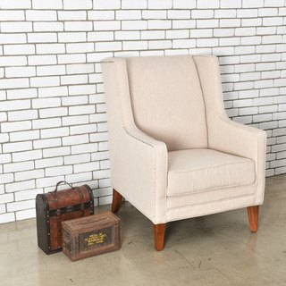 LovCozzie Cornell single armrest wood sofa chair/master chair