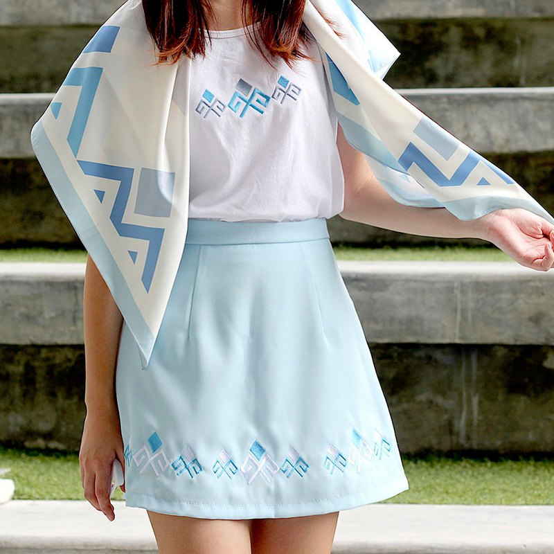 PAEDKHOR Skirt (Blue)