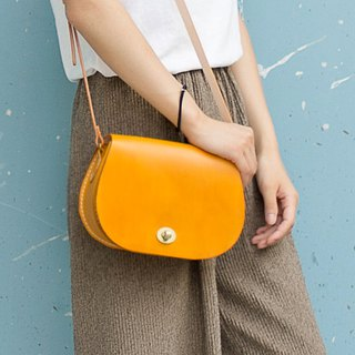 [Cut] classic saddle bags handmade custom ladies leather bag Messenger bag round bag