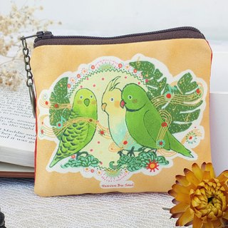 <Mysterious Life> Parrot's Chorus Small Coin Purse Collection Ticket Card Illustrator