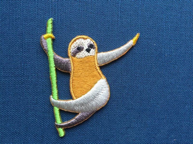 Look at me more elegant sloth - self-adhesive embroidered cloth sloth series