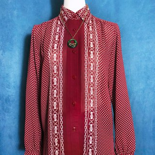 Chained long-sleeved vintage shirt / brought back to VINTAGE abroad