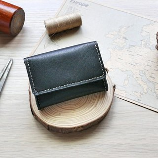 Leather business card case Juejia black European leather leather hand