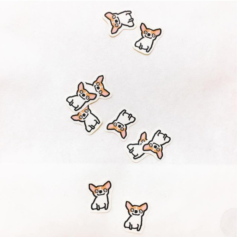 Leaflet to buy / good spirit Chihuahua / matte hand-painted stickers