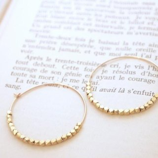 14KGF Metal Beads Hoops GD / S
