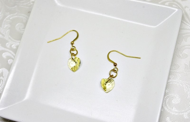 "Brass Earrings <Golden Love Sea> - Hook Earrings => Limited Edition X1 ""Mailing Free Shipping Offer"""