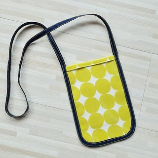 Phone hanging neck package _ yellow circle paragraph
